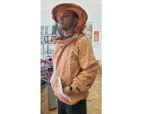Куртка пчеловода с вшитыми кольцами на молнии. Ткань бязь цветная. Состав: 100% хлопок.