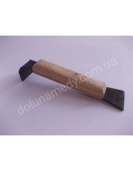 Стамеска 160мм черная, деревянная ручка