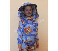 Детская куртка пчеловодас кольцами на резинке. Ткань бязь цветная. Состав: 100% хлопок.