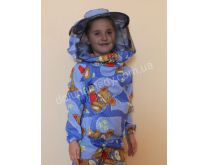 Дитяча куртка бджоляра з кільцями на резинці. Тканина бязь кольорова. Склад: 100% бавовна.