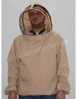 Куртка пчеловода европейского образца.  Ткань габардин. Состав: 40% хлопок, 60 % полиэстер.