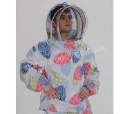 Куртка пчеловода европейского образца. Ткань бязь цветная. Состав: 100% хлопок.
