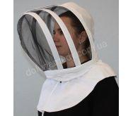 Маска пчеловода европейского образца. Ткань бязь отбеленная. Состав: 100 % хлопок.